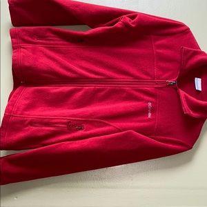 Women's Columbia Red Sweater Zip Up Red Sz XS